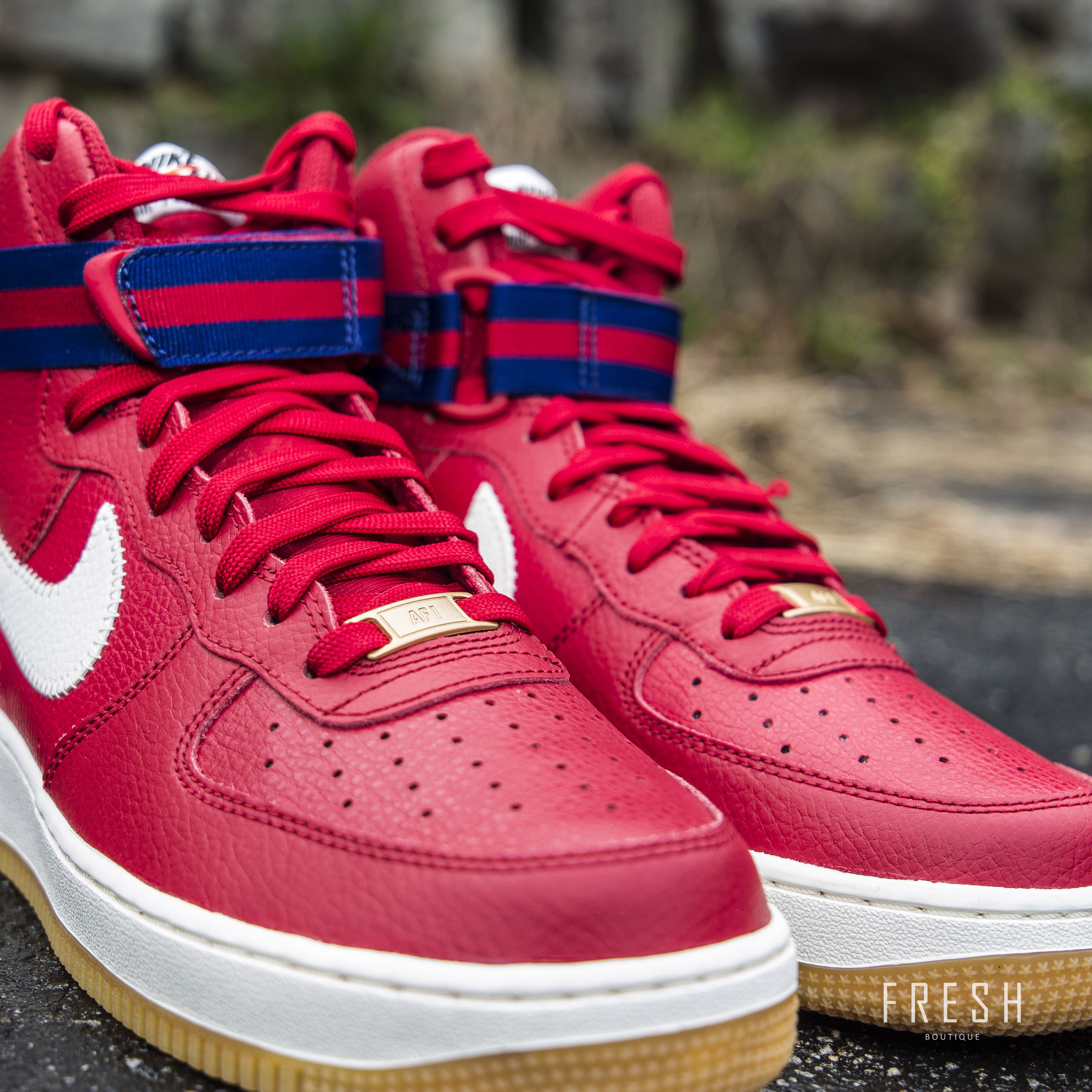 Fresh Sneaker Boutique Air Force 1 High 07 Gym Red Royal Blue